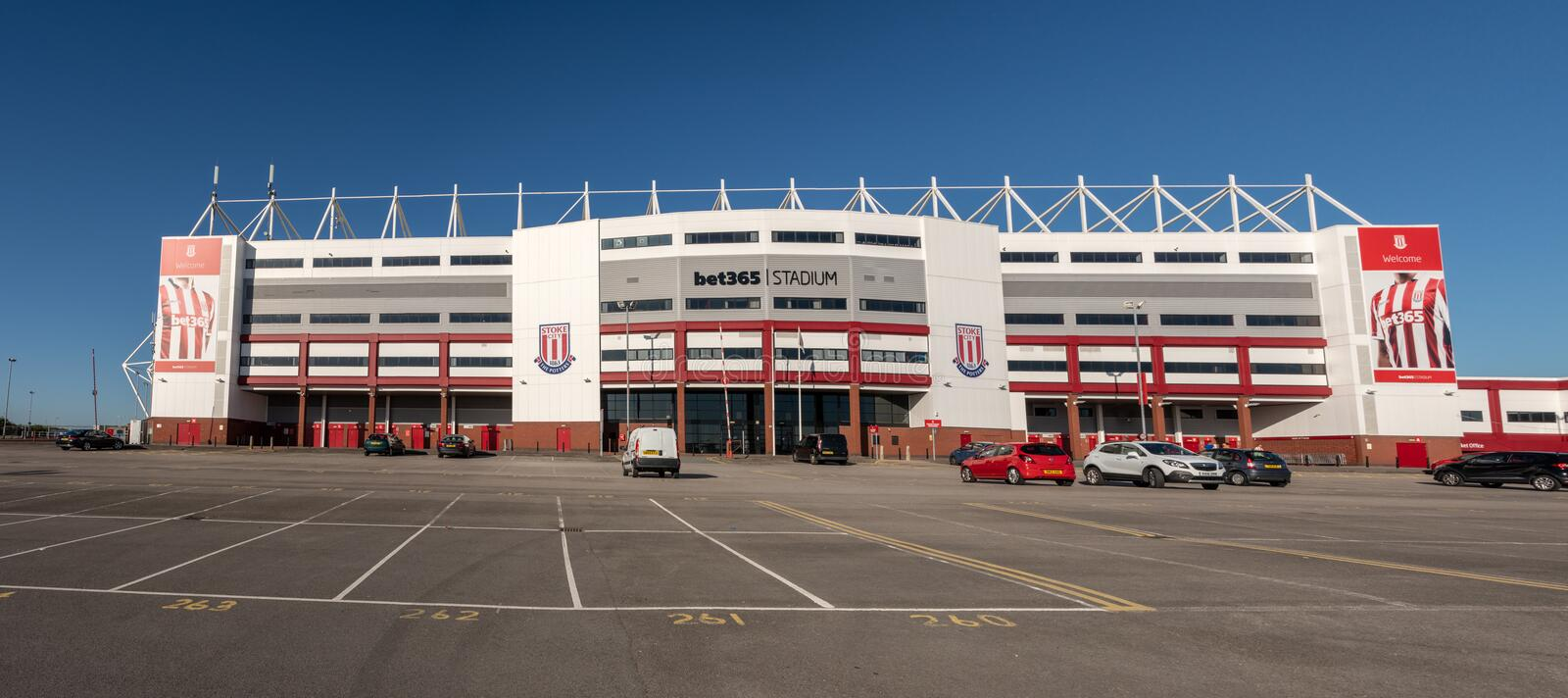 Entrance to Stoke City football stadium stock photo