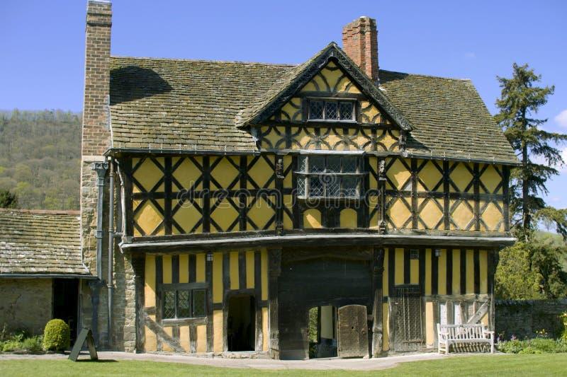 stokesay的城堡 免版税库存照片