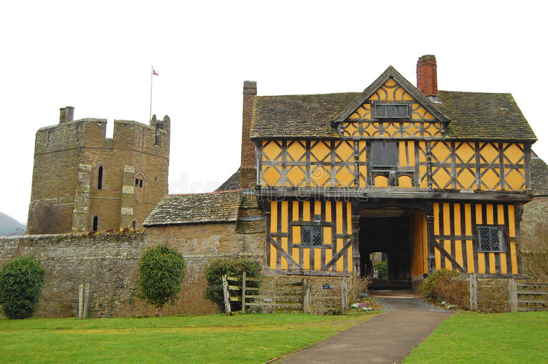 Download Stokesay castle stock photo. Image of gatehouse, stokesay - 18905986