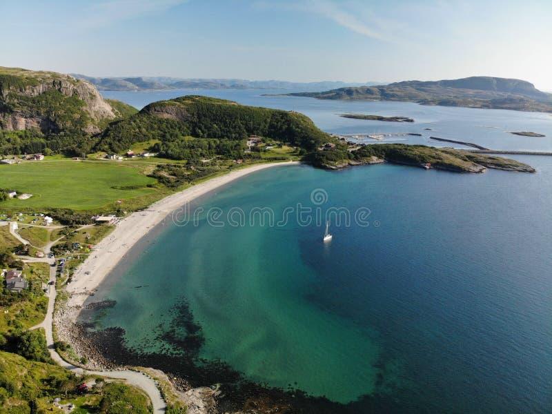 Stokkoya beach Norway Atlantic 2019 stockbilder