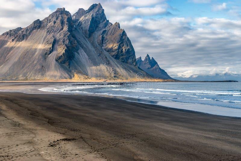 Stokksnes Islandia imagenes de archivo