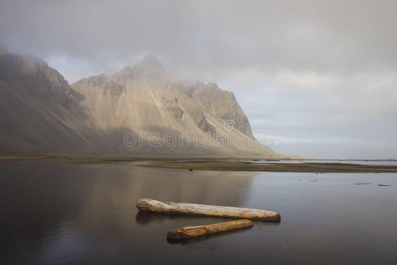 Stokksnes. In southeastern Icelandic coast, June 2015 stock photo