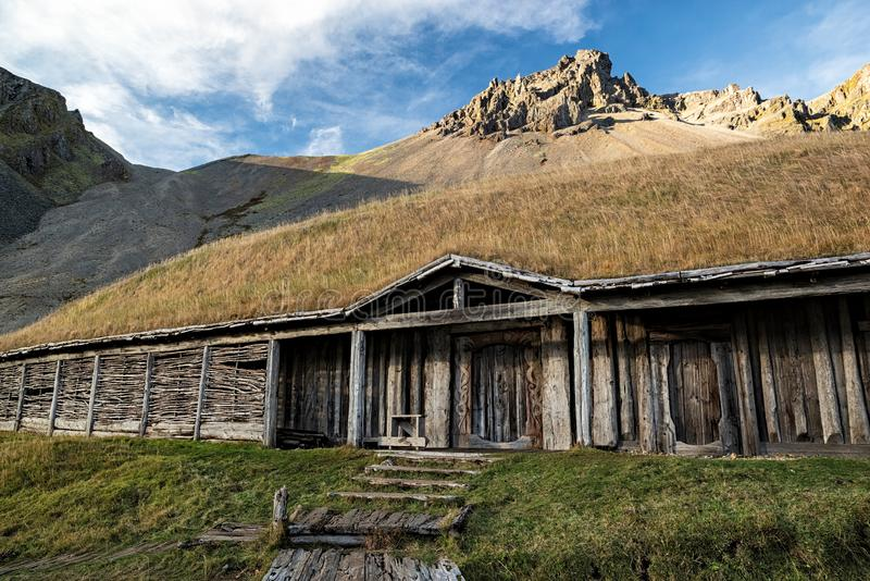 Stokksnes viking village, Iceland royalty free stock images