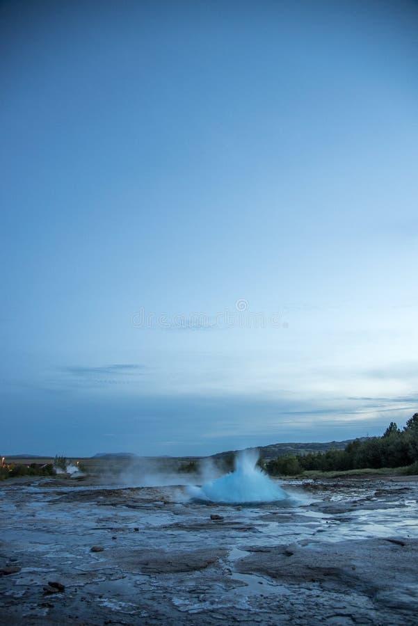 Stokkur-Geysir stockfotos