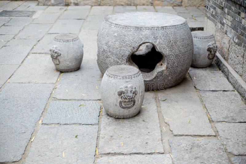 Stol för Kina sten arkivfoto