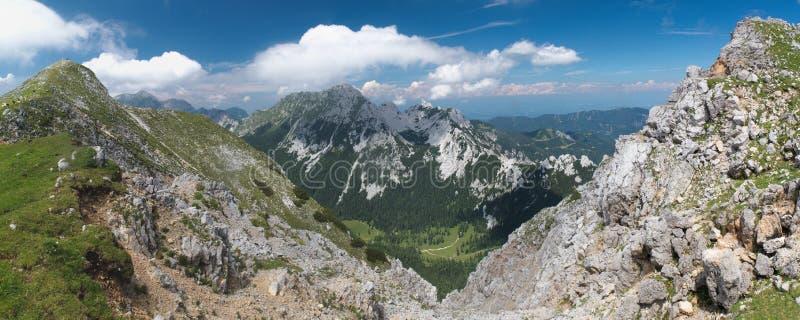 Stol góra od Veliki Vrh w Karawanken górach obraz royalty free