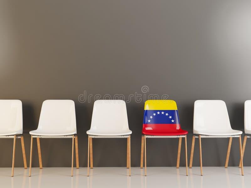 Stol med flaggan av Venezuela stock illustrationer