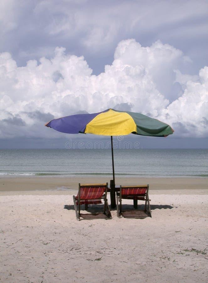 stolar för 1 strand royaltyfria foton