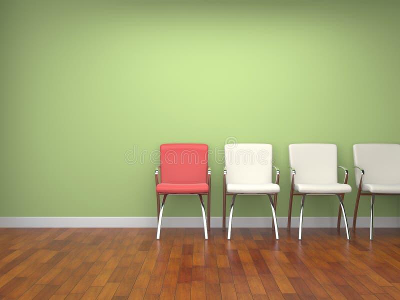 Stolar i ett rum stock illustrationer