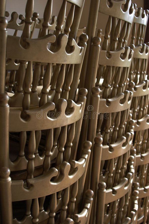 stolar staplade fotografering för bildbyråer