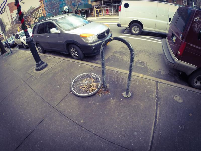 Stolen bike royalty free stock photography