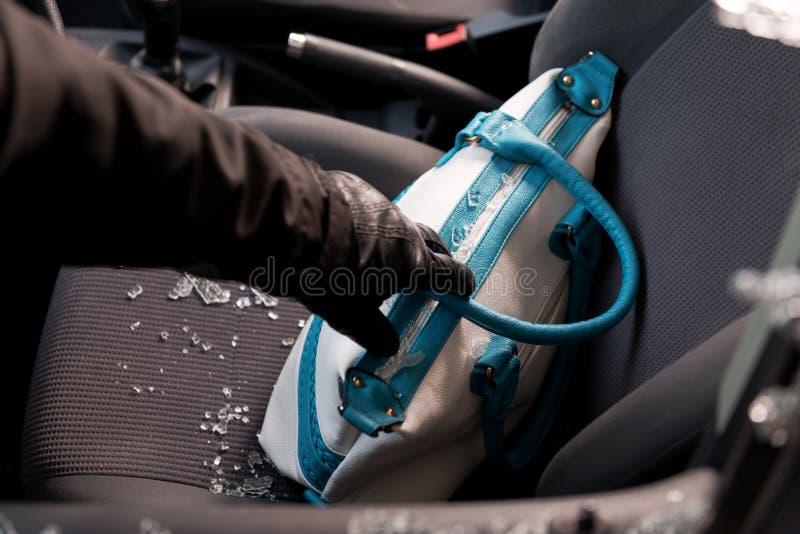 Stolen personal belongings stock image