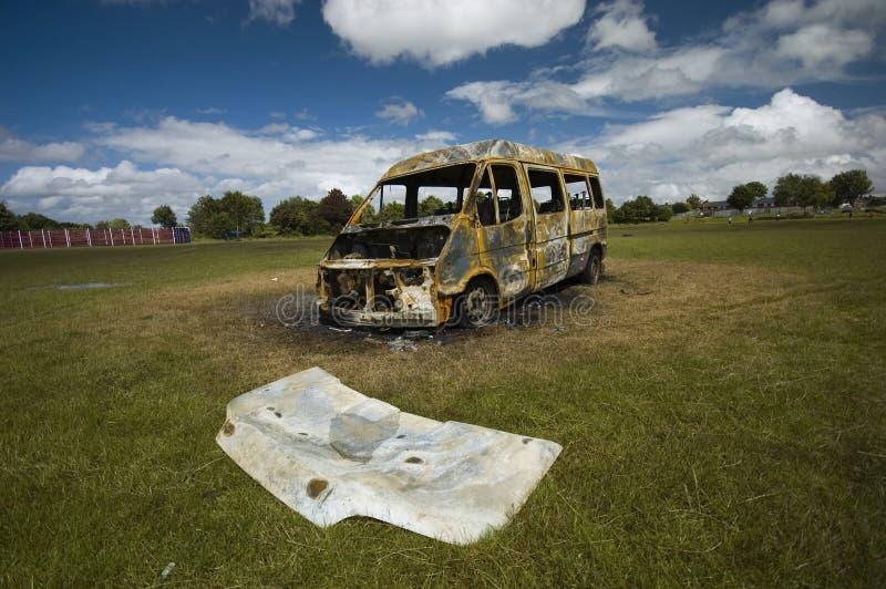 Download Stolen van stock photo. Image of overturned, vandalism - 16860538