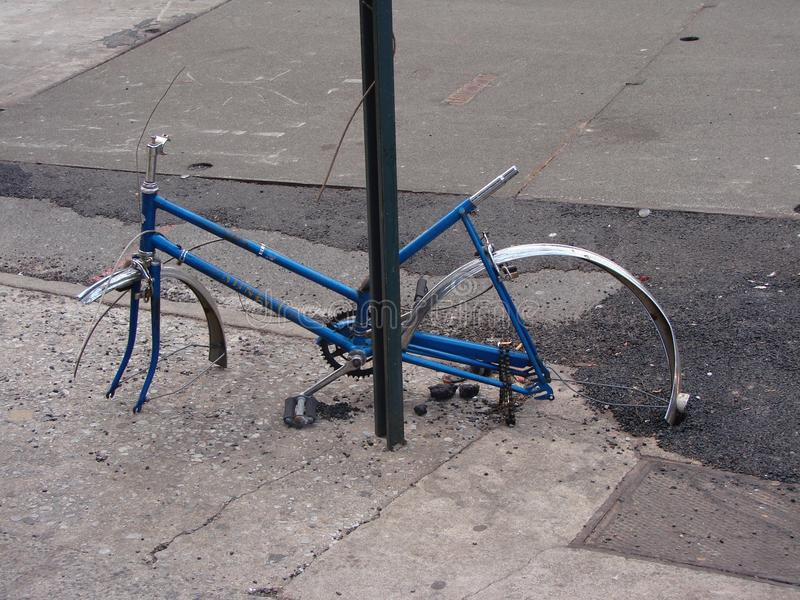 Stolen wheels stock image