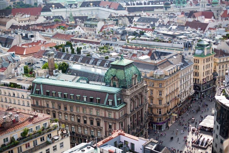 Stolica Wiedeń w Austria, citysccape od centrum miasta zdjęcia royalty free