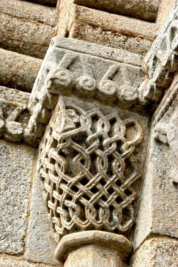 Stolice romańskie klasztoru Sao Pedro de Ferreira obrazy royalty free