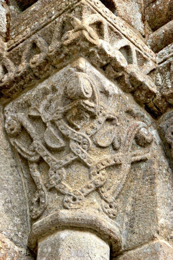 Stolice romańskie klasztoru Sao Pedro de Ferreira obraz royalty free