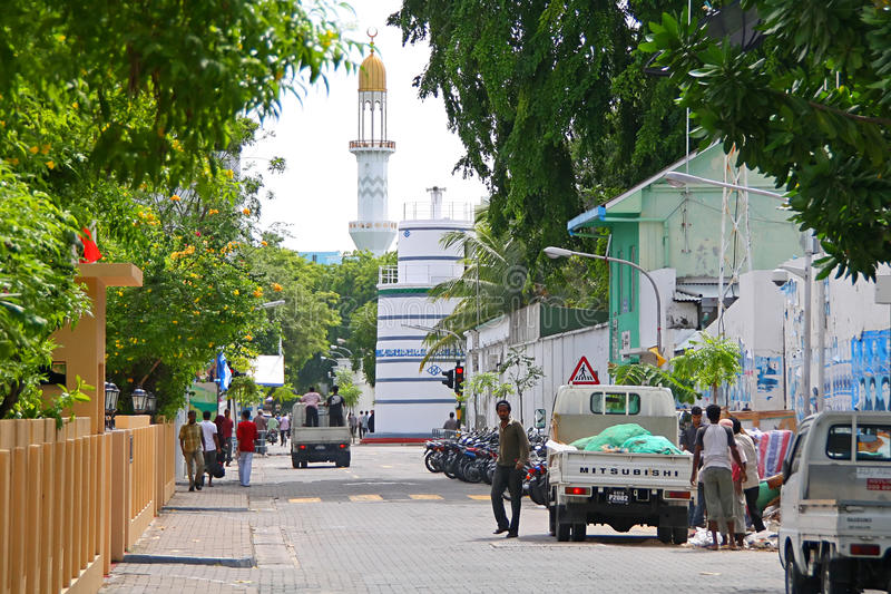 stolicy Maldives samiec ulicy fotografia royalty free