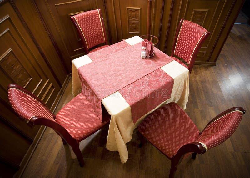 stolik w restauracji zdjęcia stock