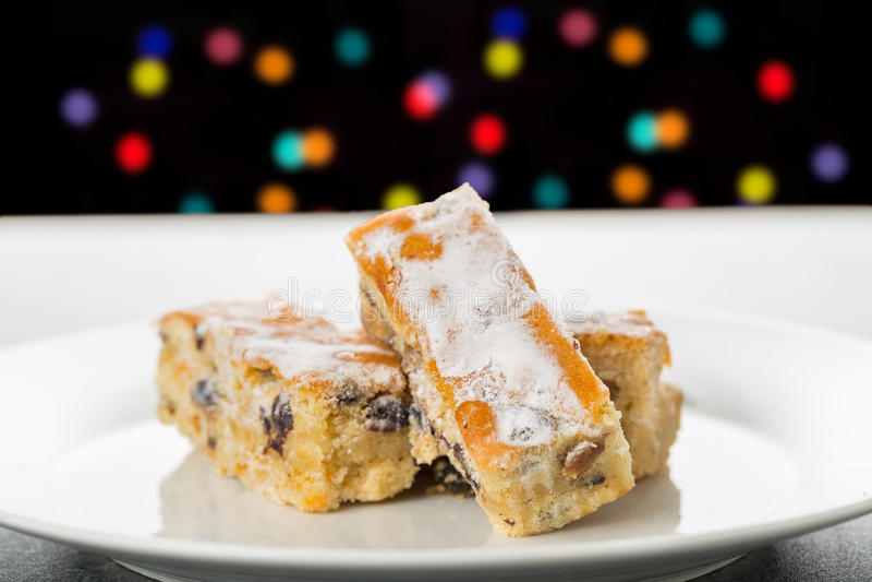 Stollen Cake stock image