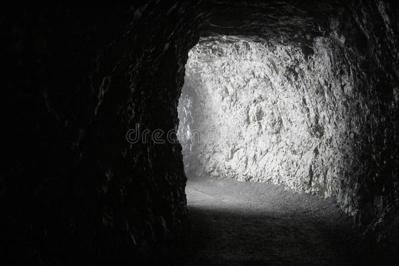 Tunnel with light royalty free stock photography