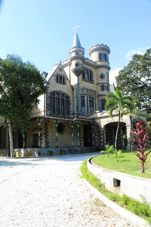Stollmayer`s Castle in Port of Spain, Trinidad and Tobago. Stollmayer`s Castle in Port of Spain, the capital of the Caribbean state of Trinidad and Tobago. The royalty free stock photos