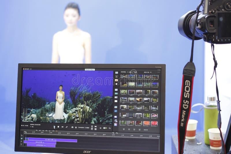 Stolpe-bearbeta system för studio - skuggafunktionsläge arkivfoton