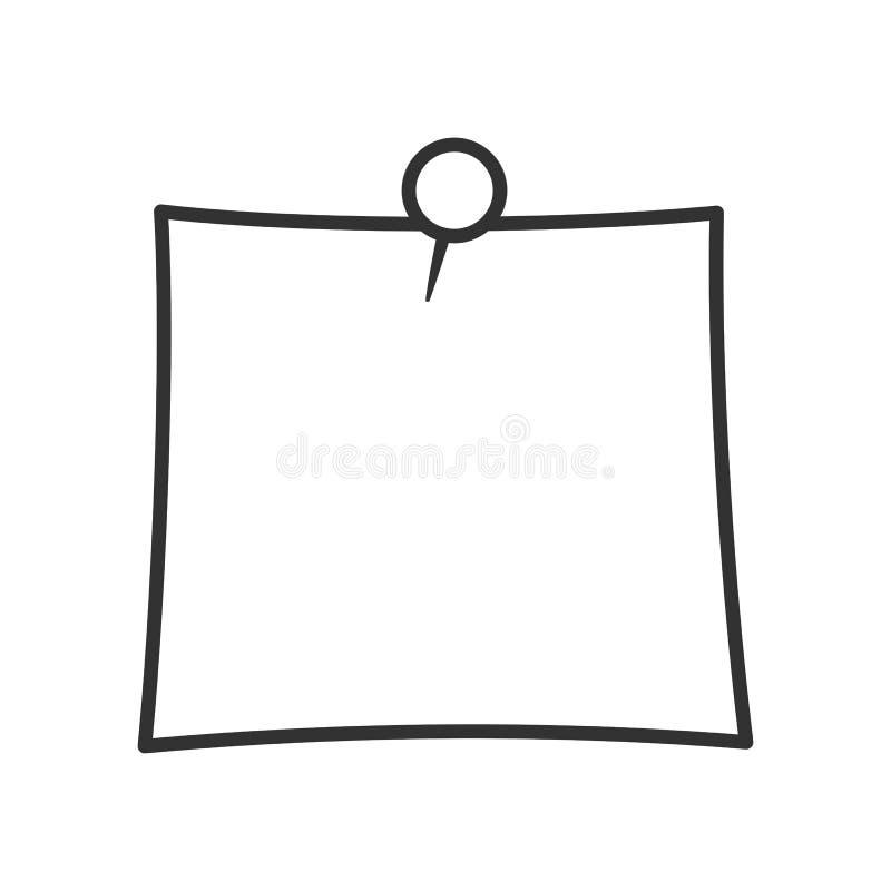Stolpe det plan symbol för översikt på vit royaltyfri illustrationer