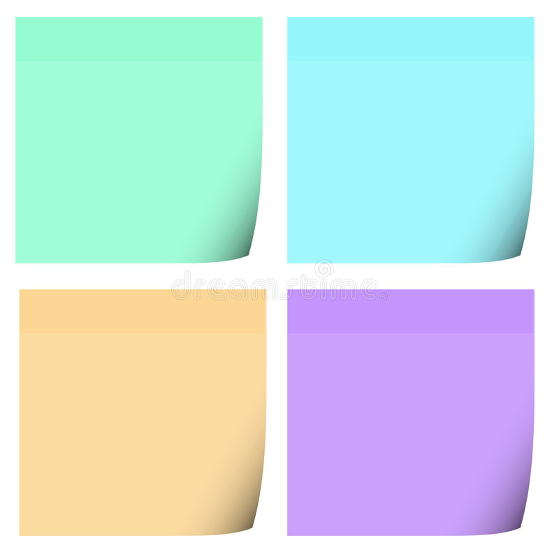 stolpe för 4 anmärkningar vektor illustrationer