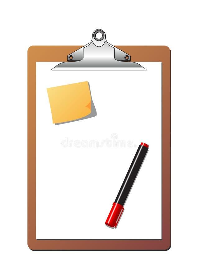 stolpe för clipboardmarköranmärkning vektor illustrationer