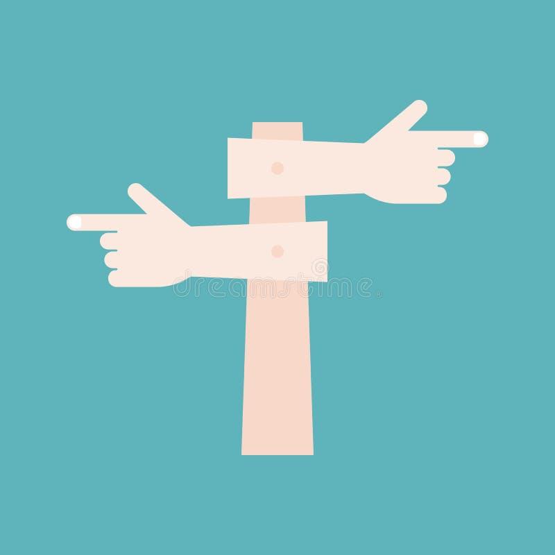 Stolpe för fingerpunkttecken stock illustrationer