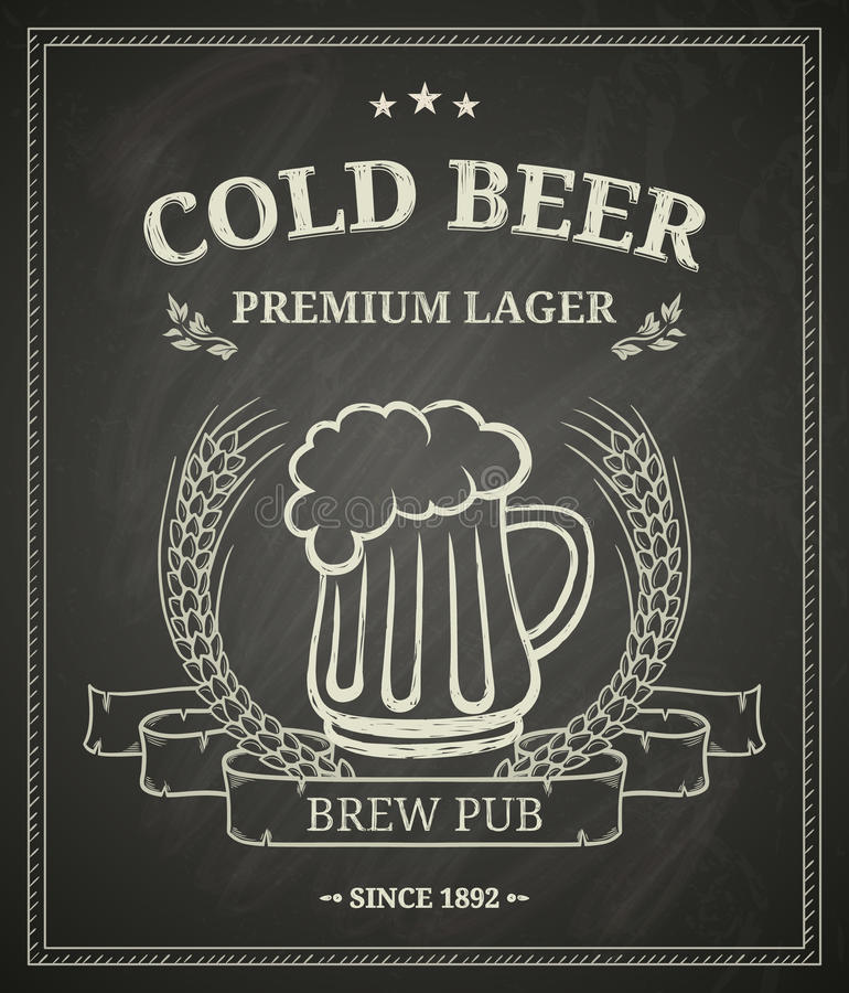 Stolpe för kallt öl vektor illustrationer