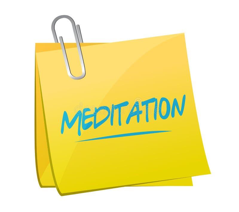stolpe för meditationmeddelandeminneslista vektor illustrationer
