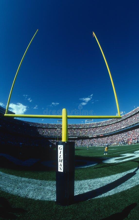 Stolpe för NFL-fältmål royaltyfri fotografi