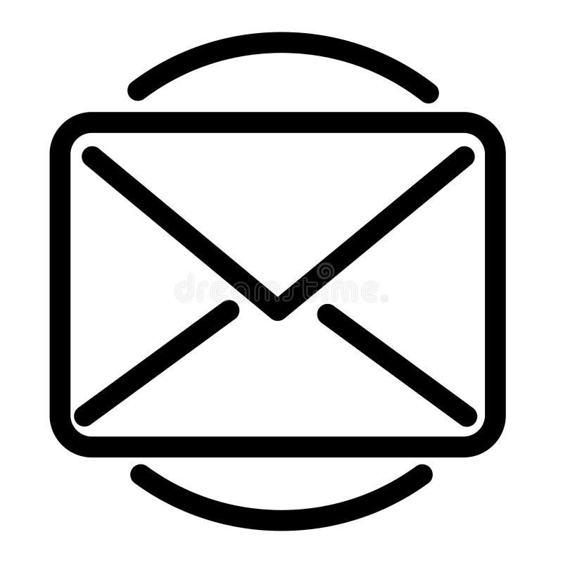 Stolpe för vektorsymbolspost, email i cirkel royaltyfri illustrationer