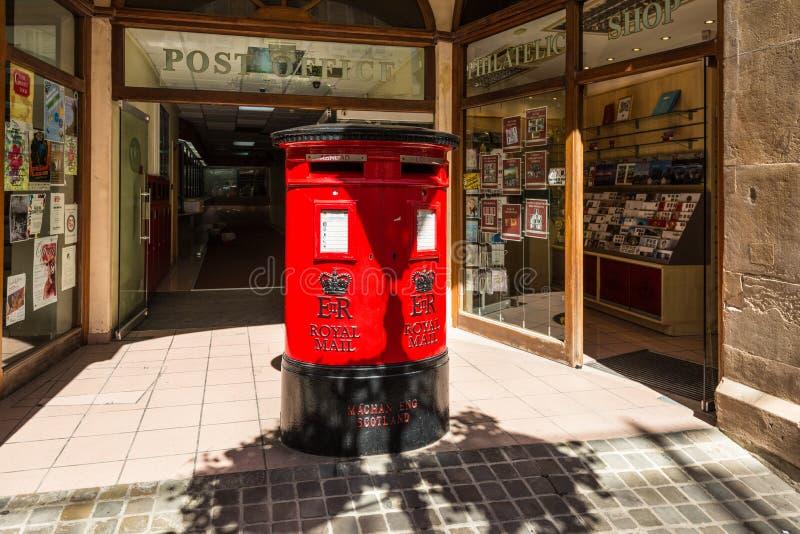 Stolpe - kontor i Gibraltar arkivbilder