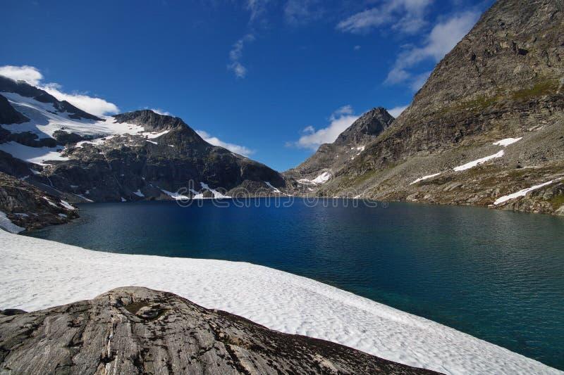 Stolpeglaciärsjö arkivbilder