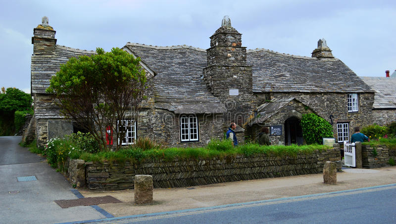 Stolpen - kontor på Tintagel arkivfoto