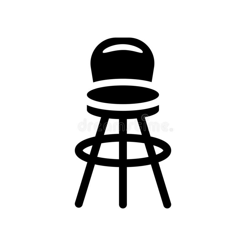 Stolsymbol  stock illustrationer