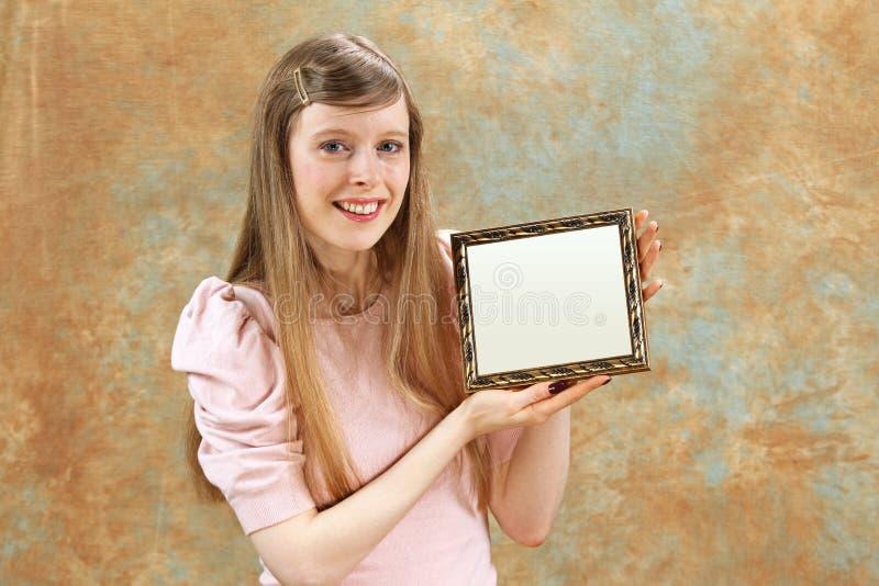 stolt flicka arkivfoto