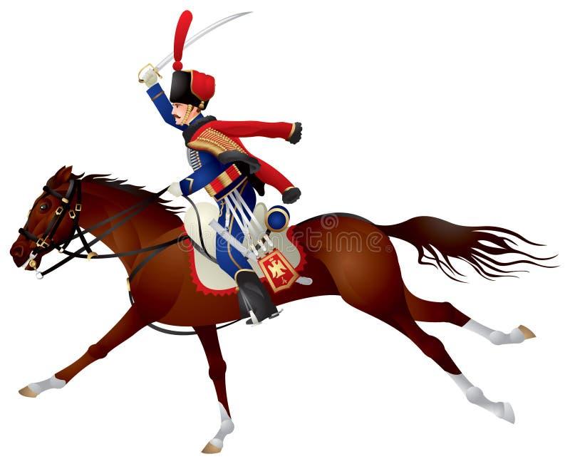 stolt hästhussar stock illustrationer