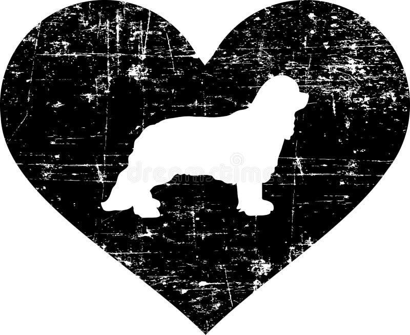 Stolt konung Charles i svartvit hjärta royaltyfri illustrationer