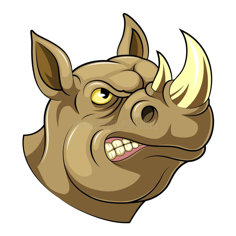 Stolt noshörninghuvud royaltyfri illustrationer