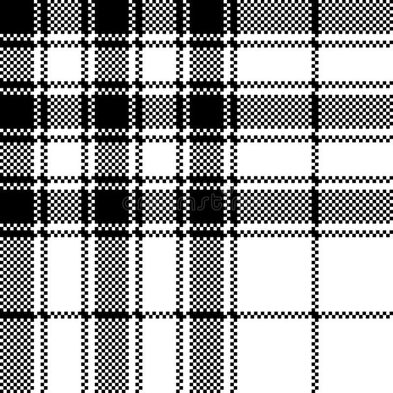 Stolthet av modellen f?r PIXEL f?r pl?d f?r Skottland tartankontroll den s?ml?sa royaltyfri illustrationer