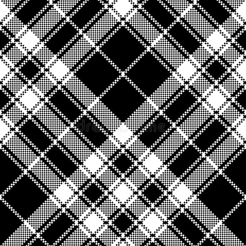 Stolthet av modellen f?r PIXEL f?r textur f?r Skottland tartantyg den s?ml?sa vektor illustrationer