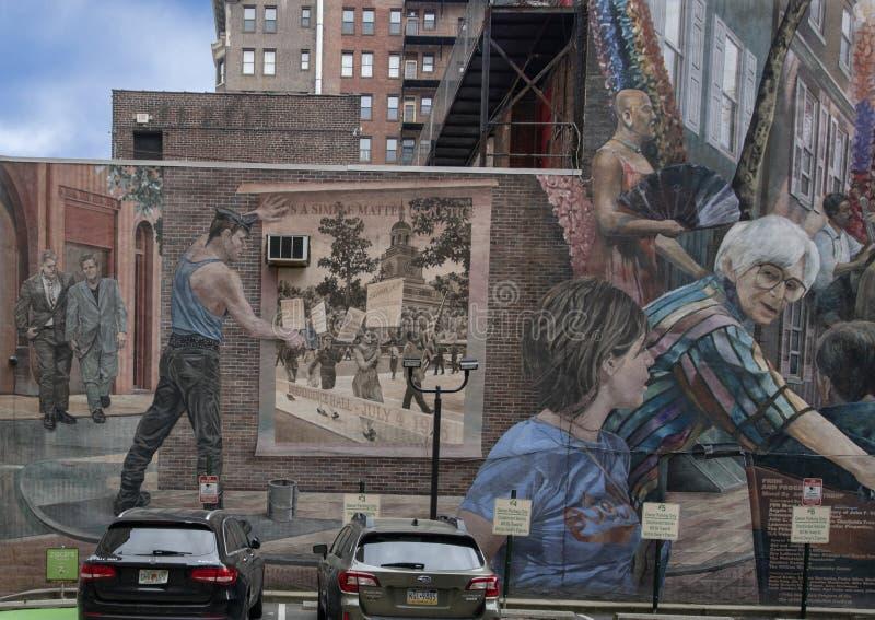`-Stolthet- och framsteg` av Ann Northrup, Philadelphia, Pennsylvania arkivbild