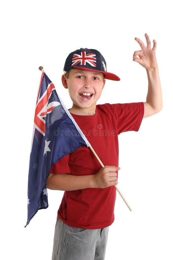 Stolz Australier stockbild