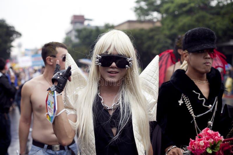 Stolz-Parade 2010 Taiwan-LGBT lizenzfreie stockbilder