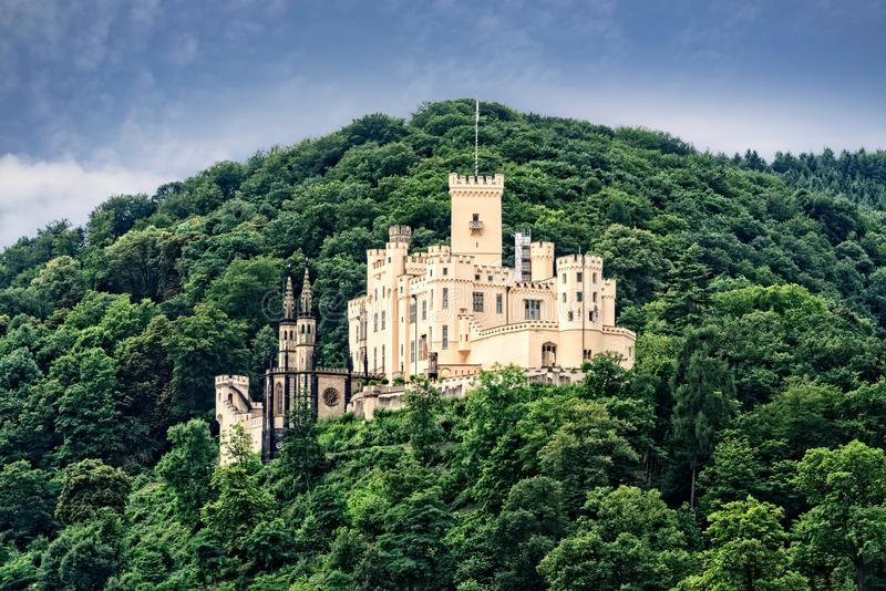 Stolzenfels Castle in Germany stock photos