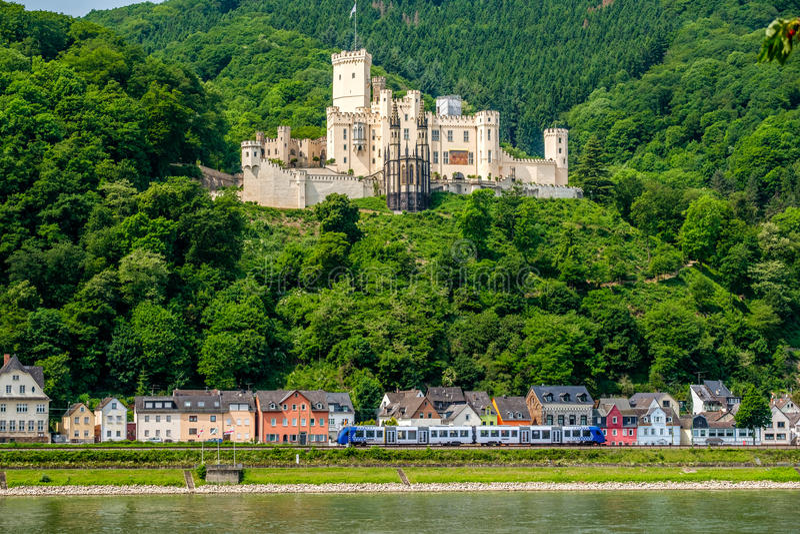 Stolzenfels Castle at Rhine Valley near Koblenz, Germany. stock photography